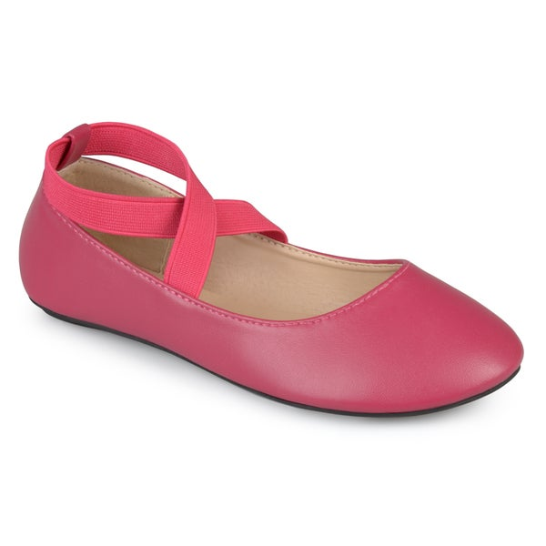 Journee Collection Kids 'Nessa' Ballet Wrap Close Toe Flats
