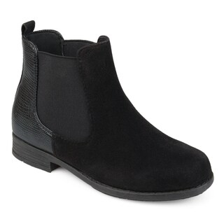 Journee Collection Kids 'Sawyer' Faux Suede Two-tone Chelsea Boots