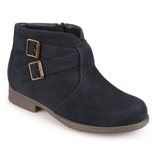 Journee Collection Kids 'Tazley' Faux Suede Buckle Boots (More options available)