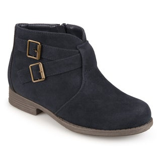 Journee Collection Kids 'Tazley' Faux Suede Buckle Boots