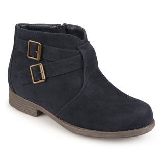 Journee Collection Kids 'Tazley' Faux Suede Buckle Boots|https://ak1.ostkcdn.com/images/products/16413220/P22761017.jpg?impolicy=medium