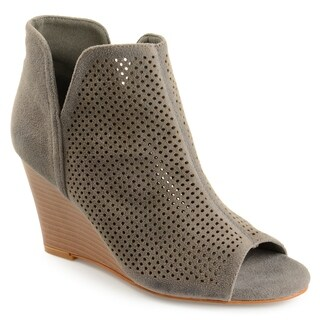 Journee Collection Women's 'Andies' Open-toe Laser Cut Wedges