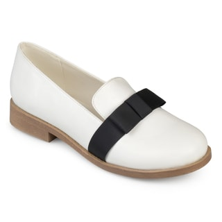 Journee Collection Women's 'Kysie' Faux Leather Bow Loafer Flats