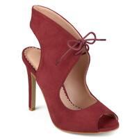 Journee Collection Women's 'Indigo' Lace-up Open-toe High Heels