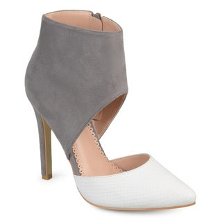 Journee Collection Women's 'Zinia' Two-tone Ankle Cuff High Heels