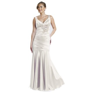 DFI Women's Pleated Mermaid Gown