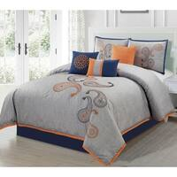 Naomi Paisley 7 Piece Comforter Set