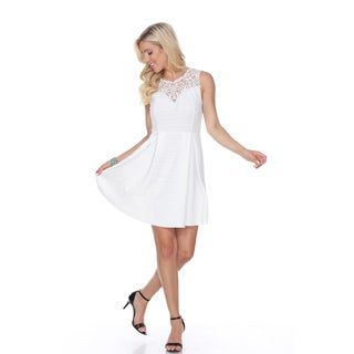 White Mark Women's Taja Fit and Flare Dress