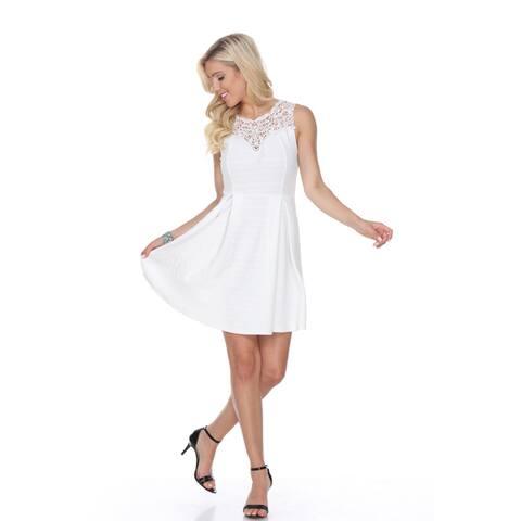 White Mark Women's Taja Fit and Flare Dress