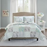Madison Park Paolina Cotton Percale Print Coverlet Set