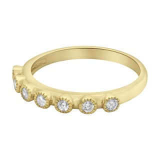 10k Yellow Gold 1/4ct TDW Diamonds Anniversary Band Ring - White H-I