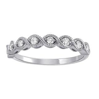 10k White Gold 1/4ct TDW Diamonds Band Ring - White H-I