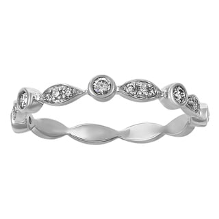 10K White Gold 1/4ct TDW Diamonds Band Ring - White H-I