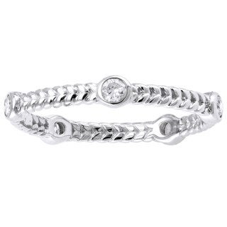 10K White Gold 1/4ct TDW Diamonds Eternity Band Ring