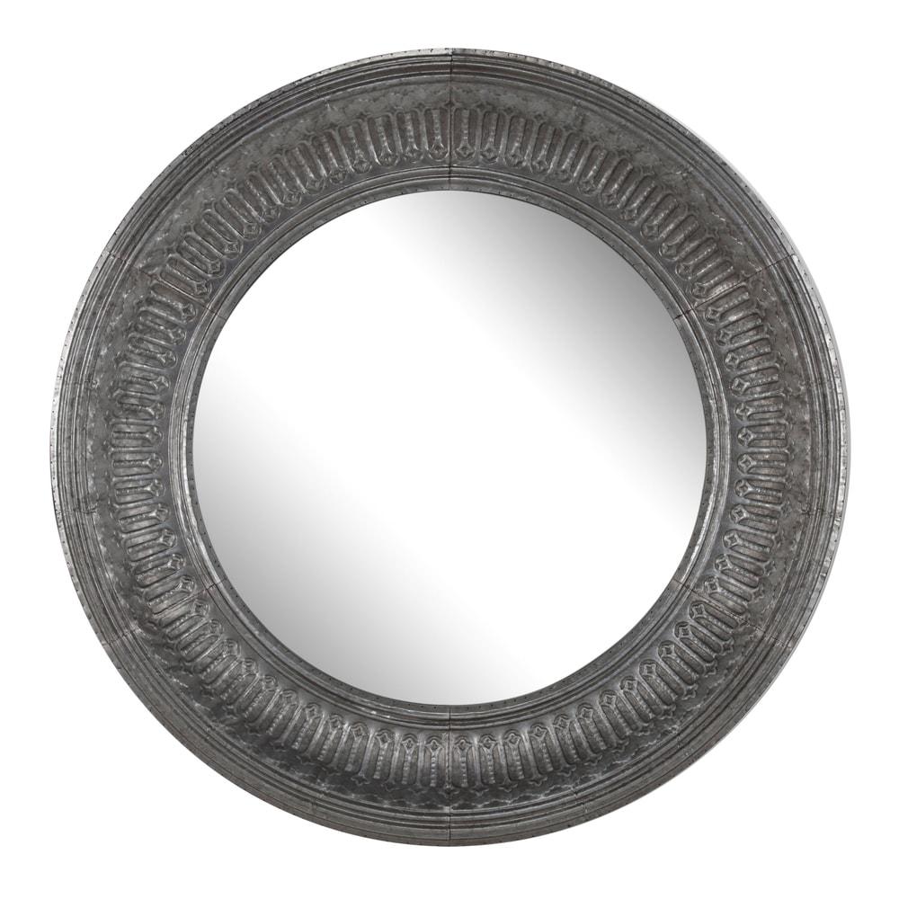 Silver 45-inch x 4.5-inch Round Wall Mirror - A