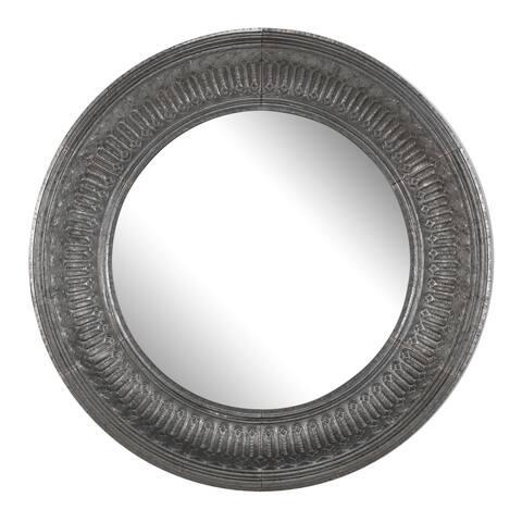 A&B Home Silver 45-inch Round Wall Mirror