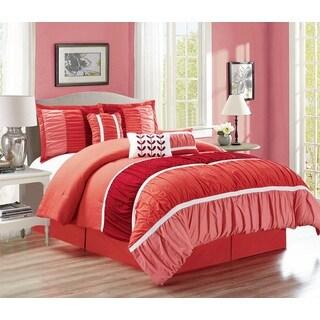 Fashion Street Lisa Ruffled 7-piece Comforter Set