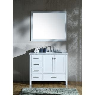 White Bathroom Vanities Amp Vanity Cabinets For Less Overstock