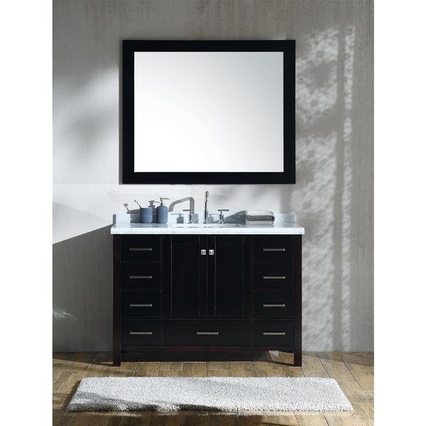 "ARIEL Cambridge 49"" Single Rectangle Sink Vanity Set in Espresso"