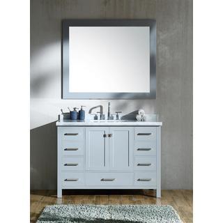 Ariel Cambridge Grey Wood 49-inch Single-sink Vanity Set