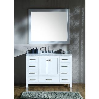 "ARIEL Cambridge 49"" Single Rectangle Sink Vanity Set in White"