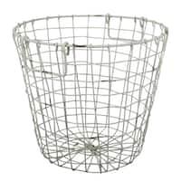 Grafton Antique White 14-inch x 13-inch Round Wire Basket