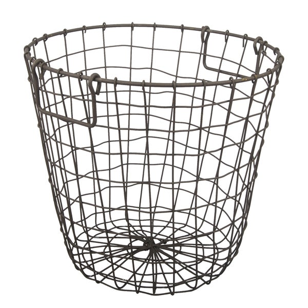 Grafton Rusty 14-inch x 13-inch Round Wire Basket - Free Shipping On ...
