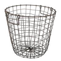 Grafton Rusty 14-inch x 13-inch Round Wire Basket