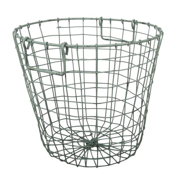 Shop Grafton Antique Green 14-inch x 13-inch Round Wire Basket - On ...