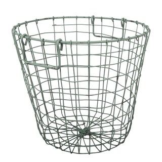 Grafton Antique Green 14-inch x 13-inch Round Wire Basket