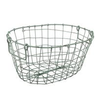 Grafton Antique Green Oval Wire Basket