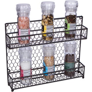 Trademark Innovations 2-Tier Wire Spice Rack Storage Organizer