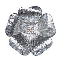 "River of Goods 22""H Gray Mosaic Glass Flower Wall Decor"