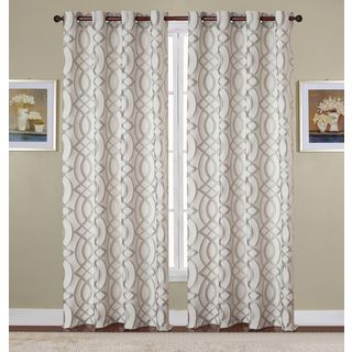 RT Designers Collection Dawson Jacquard 84-inch Grommet Curtain Panel