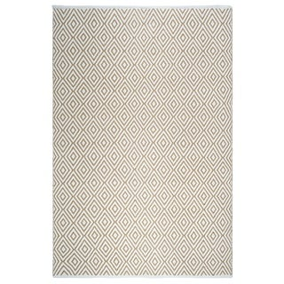 Handmade Fab Habitat Veria Indoor/Outdoor Rug - Almond & White (8' x 10') (India)