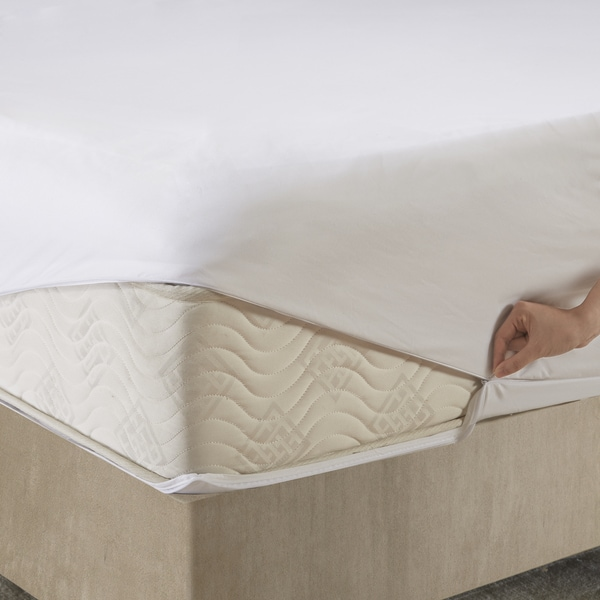 mattress cover with zipper. sleep philosophy copper infused white zippered mattress protector free shipping on orders over 45 overstockcom 22761656 cover with zipper