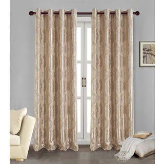 RT Designer's Collection Marabella Jacquard 84-inch Blackout Grommet Curtain Panel