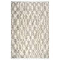 Fab Habitat Veria Indoor/Outdoor Rug - Handwoven - Almond & White (5' x 8)' (Inida)