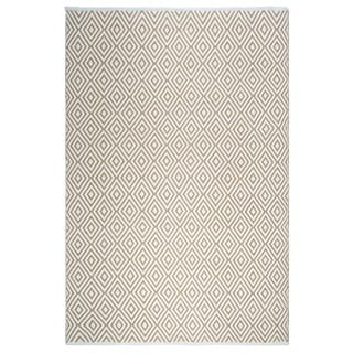 Handmade Fab Habitat Veria Indoor/Outdoor Rug - Almond & White (4' x 6') (India)