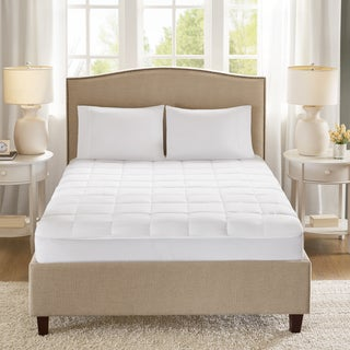 Sleep Philosophy Copper Infused White Down Alternative Mattress Pad