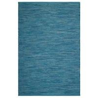 Fab Habitat, Indoor/Outdoor Floor Rug Cancun Indoor/Outdoor Rug - Blue (8' x 10') (India)