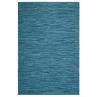 Fab Habitat, Indoor/Outdoor Floor Rug Cancun Indoor/Outdoor Rug - Blue (5' x 8') (India)