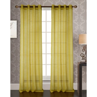 RT Designer's Collection Fino Sheer 90-inch Grommet Curtain Panel