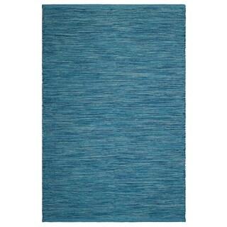 Handmade Cancun Blue Rug - 4' x 6' (India)