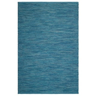 Handmade Fab Habitat Cancun Indoor/Outdoor Rug - Blue (4' x 6') (India)