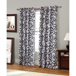 Rt Designer S Collection Copley Printed 84 Inch Blackout Grommet Curtain Panel Pair
