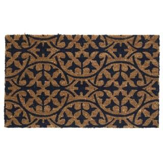 Handmade Fab Habitat Extra Thick Blue Tile Doormat (India)