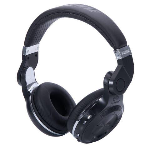 Bluedio T2 Head-mounted Handsfree Wireless Bluetooth Stereo Headphone Black