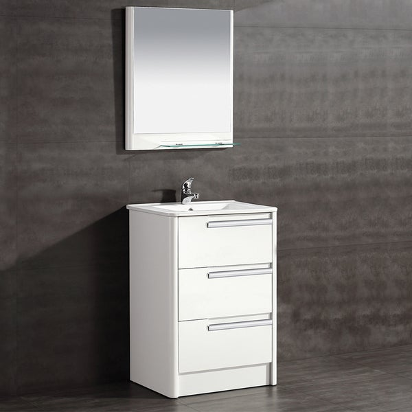 shop ove decors modena 24 in bathroom vanity in glossy white free rh overstock com 24 in rustic bathroom vanity 24 in wood bathroom vanity