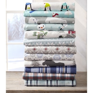 Home Fashion Designs Stratton Collection Extra Soft Printed 100% Cotton Flannel Sheet Set